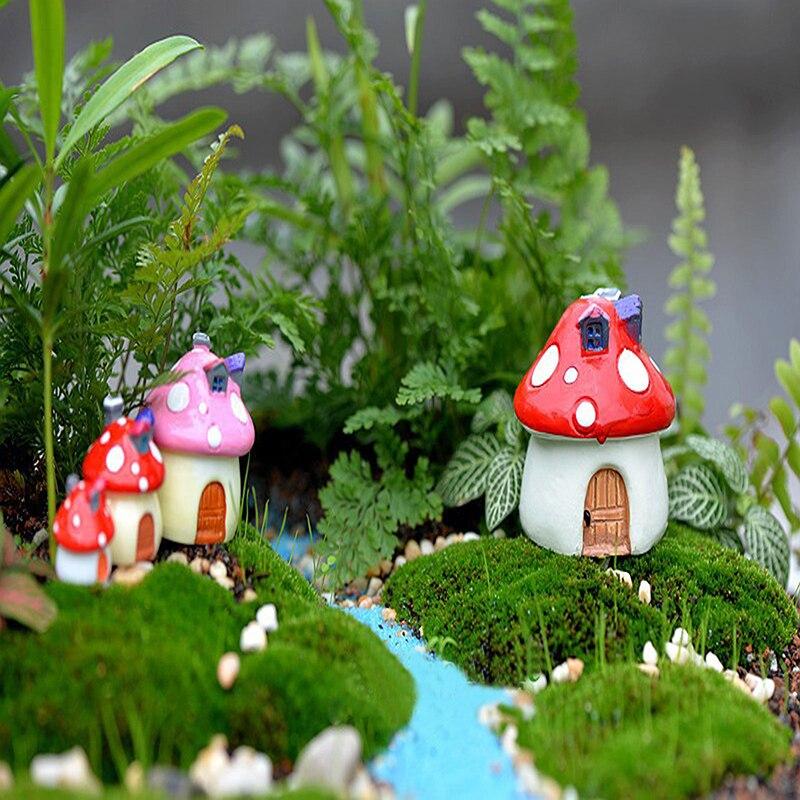 1 Piece Mushroom House New Figurine Craft Plant Pot Fairy Garden Decor  Garden Ornament Cute Mini Home Supplies Hot Sale In Figurines U0026 Miniatures  From Home ...