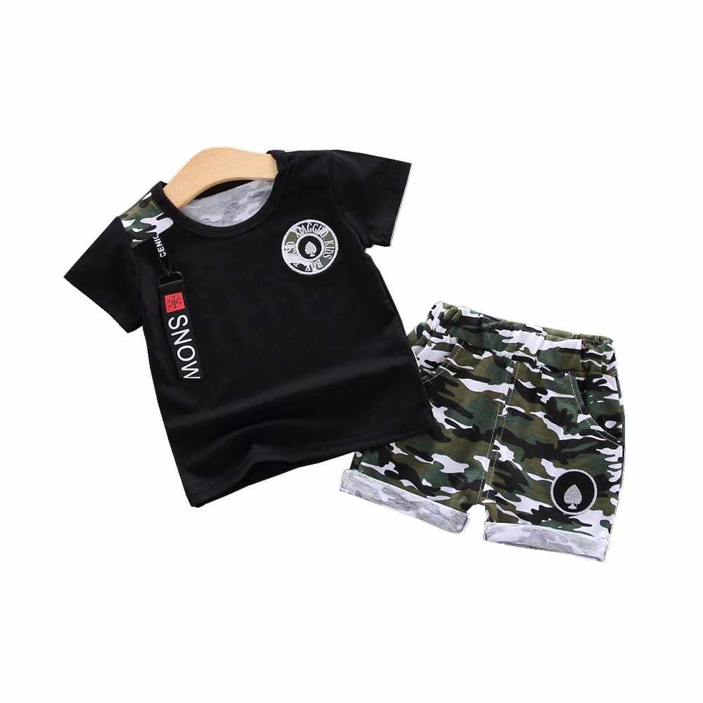 Summer Children Clothing Baby Boys Girls Clothes Kids Fashion T Shirt Shorts 2pcs/sets Toddler Cotton Garment Infant Tracksuits