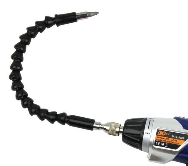 Milda Phổ Rắn flexible hose trục Các Đăng kết nối mềm thanh mở rộng khoan Điện screwdriver bit