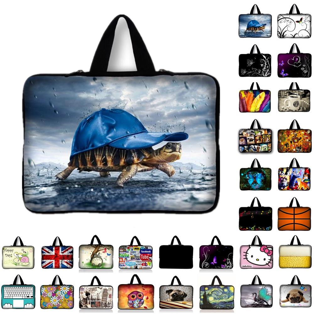 7 10 11.6 13.3 14 15 15.4 15.6 17 laptop bag netbook sleeve case with handle PC handbag computer notebook cover pouch