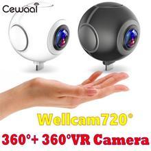 Cewaal 360 панорамный VR Камера 1920×960 HD видео CAM Видео Двойной объектив Android-смартфон Широкий формат реального времени видеокамера
