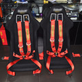 Nueva puntos Quick Release carreras cinturones de seguridad / con FIA aprobado de caducidad color predeterminado es rojo