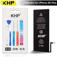 NIEUWE 2017 100% Originele KHP Telefoon Batterij Voor iPhone 6 S Plus Capaciteit 2750 mAh Reparatie Tools 0 Cyclus Vervanging batterijen Sticker