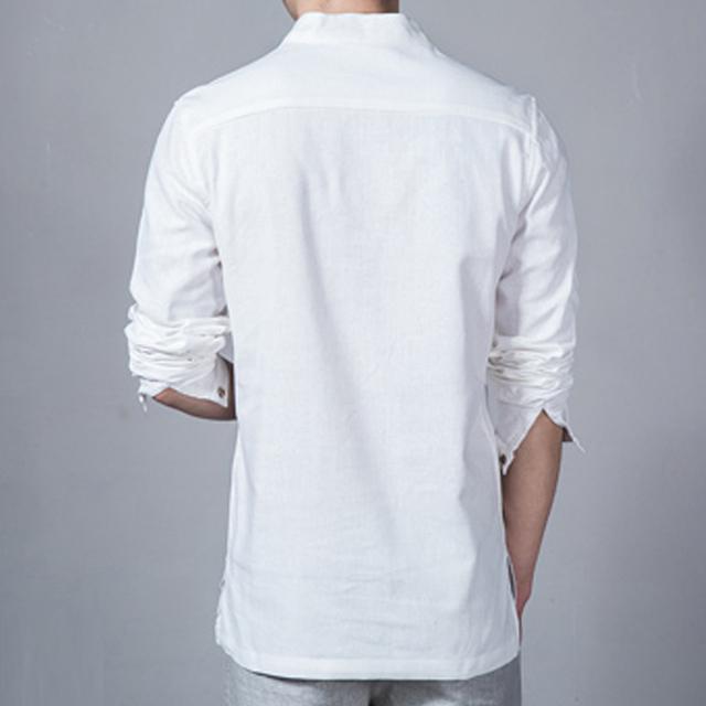 Casual Style Natural Linen Men's Shirt