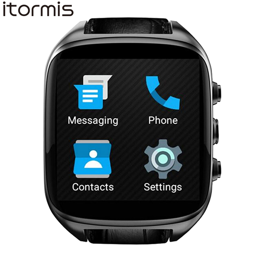ITORMIS Smart Watch Fashion Smartwatch Phone Wristwatch Leather Strap Android 5.1 MTK6580 1G RAM 8G ROM GPS 3G GSM SIM X01S new fashion 3g wcdma android watch phone z01 heart rate monitor smartwatch with gps wifi 512m ram 4g rom camera wristwatch