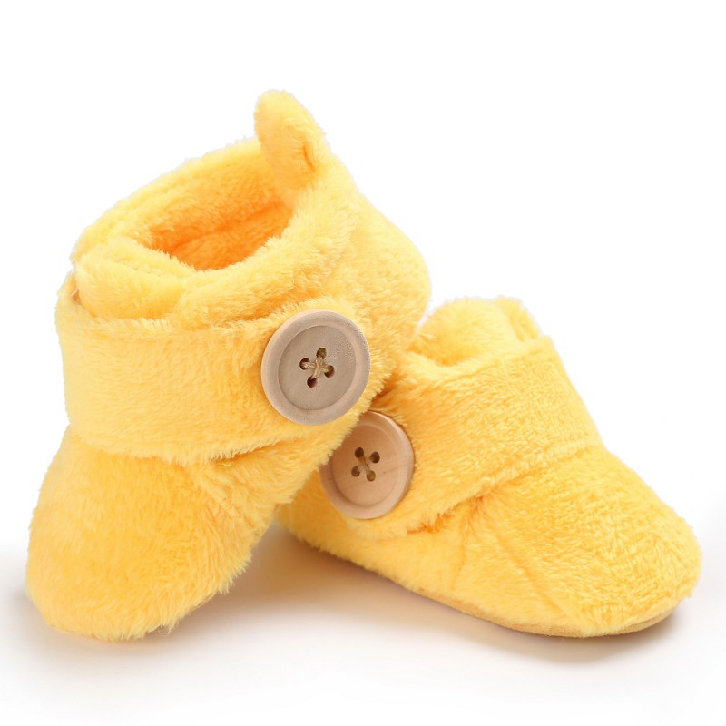 Fashion Newborn Baby Shoes Winter Boots Baby Boy Girl Cute Plush Slip-Proof Boots Warm Comfortable Children\'s Shoes