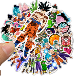 50PCS/pack Cartoon Stickers Dragon Ball Super Anime For Laptop Luggage Bags Bike Phone Styling Cute Toys Doodle PVC Creative(China)