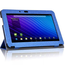 ocube 3-Folder Silk Print Pattern PU Leather Cases Cover For HP SlateBook 10 X2 PC 10-H011RUh012ruH027RU 10.1″Tablet