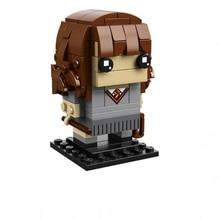 Nuevo Harri Potter Brickheadz Marvel vengadores Super héroe Capitán Jack Ironman cabezas bloques de construcción de ladrillo Legoinglys chico regalo de Juguetes