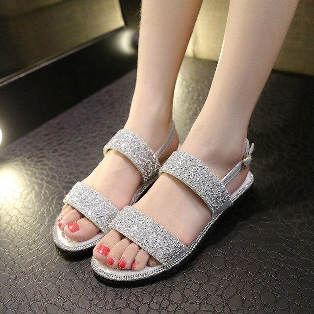 b40b3313e4a868 New women summer shoes bling bling platform sandals cut out gladiator  sandals women flip flops belt hasp shoes
