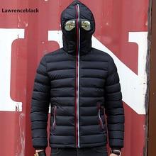 Winter Jacket Men Hood Parkas With Glasses personality Wear Cotton Winter Coats
