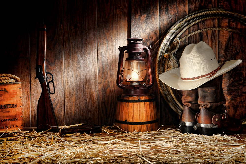 7x5FT Wild West Shed Wood Hut Cowboy Gun Hat Rope Lantern Boots Hay Custom  Photo Studio efa8993819d1