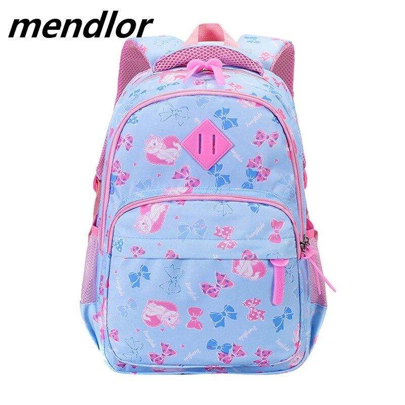 Кошка детская одежда с рисунком рюкзаки для девочек легкий водонепроницаемые школьные мешки ребенок школьные детские книги сумка mochila ...