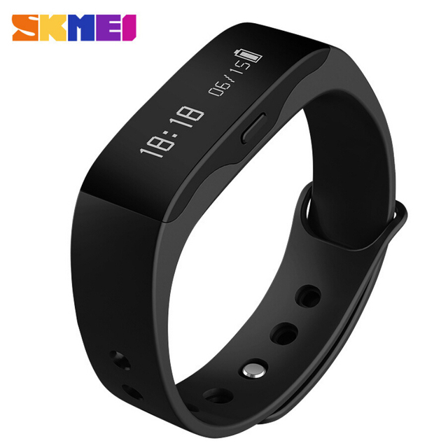 2016 New SKMEI Men Women Fashion Sport Watch L28t Outdoor Fitness Watches LED Display Call Reminder Digital Smart Wristwatches