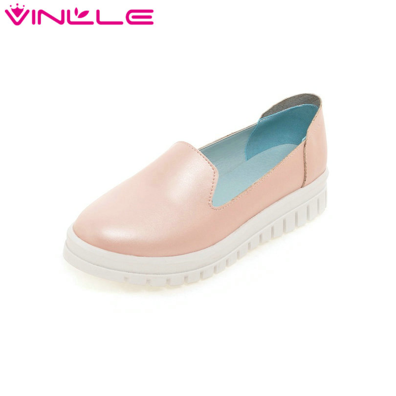 Summer Fashion Women Loafers Slip on Lady Soft PU Flat Platform Casual Shoes Women Round Toe