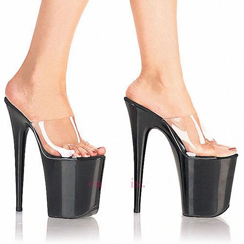 Tacones Cm Pole Sexy Zapatos Noche Dancing Delgados Negro Super Alta Club rojo Shoes Plataforma Laijianjinxia 20 Altos Zapatillas Mujeres blanco Nueva BzA8wtqx