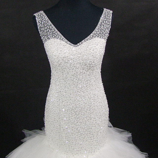 QQ Lover 2019 New African Full Beaded Floor-Length Mermaid Wedding Dresses Bridal Gowns With Videos