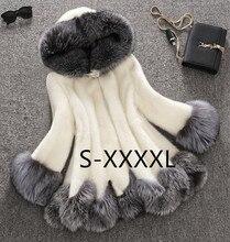 Starlist Winter Luxury Faux Fox Fur Female Cloak Hooded Coat Faux Mink