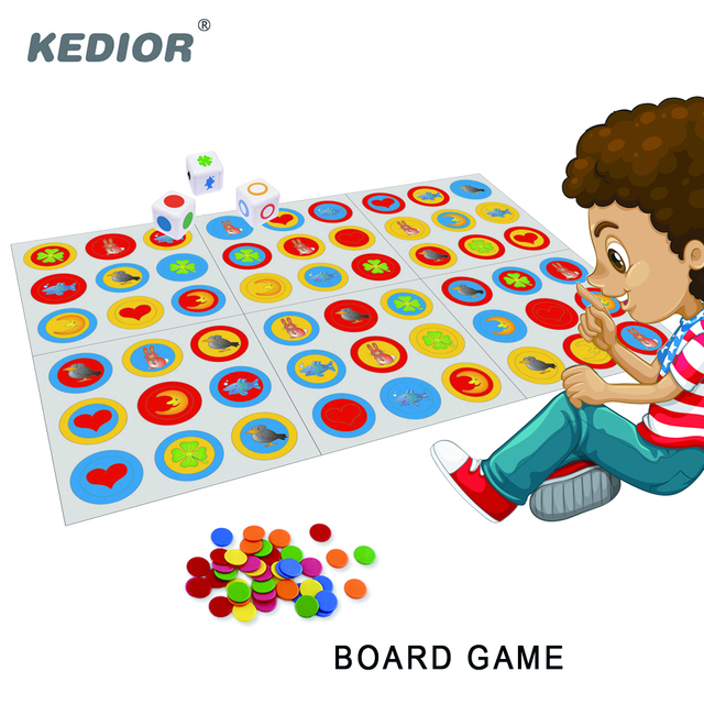 Kedior Figurix Matching Madness Fast-Paced Observation Board Game Card Intelligent Toys for Kids Educational
