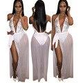 2016 Caliente Nueva Moda de Otoño Estilo de Las Mujeres Sexy Club de Partido del Vendaje de Bodycon Vestidos de Las Señoras Con Lentejuelas Side Splits Vestidos body