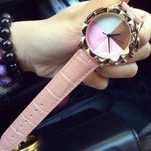 Marca Diseño Moda Mujer de Cuarzo Correa de Cuero Relojes de Lujo Ocasional Señora Analógica Vestido de Pulsera Nuevo reloj mujer montre