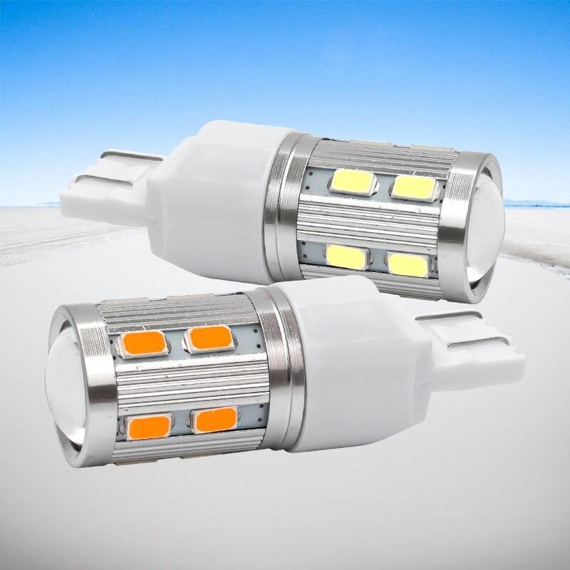 2pcs T20 7443 W21/5W Super Helle 16 SMD 5630 5730 LED Auto Schwanz Bulb 21/5W Bremsleuchten auto Tagfahrlicht Lampen Rot Bernstein 12V