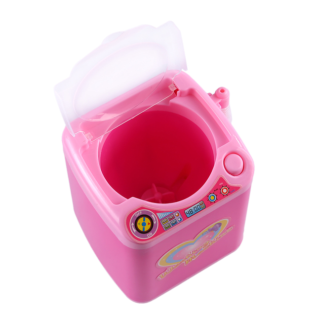 Educational Toy Mini Electric Washing Machine Children Pretend & Play Baby Kids Home Appliances Toy - Pink 2