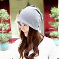Multifunction Baggy Beanie For Women Casual Hat Mask Winter Infinity Scarf Solid Slouch Hedging Cap Outdoor Rock Bonnet Cappelli