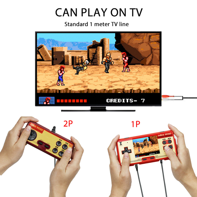 """Coolbaby RS 20A 3.0"""" Retro Handheld Game Player childrens video game Console Built in 638 Games Support 2 Players TV Output"""