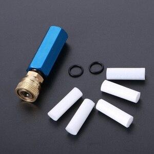Image 2 - Pompa ręczna PCP sprężarka powietrza prosty wkład Separator olej woda z żeńskim szybkozłączem i wolnym elementem filtrującym M10 * 1 wątki