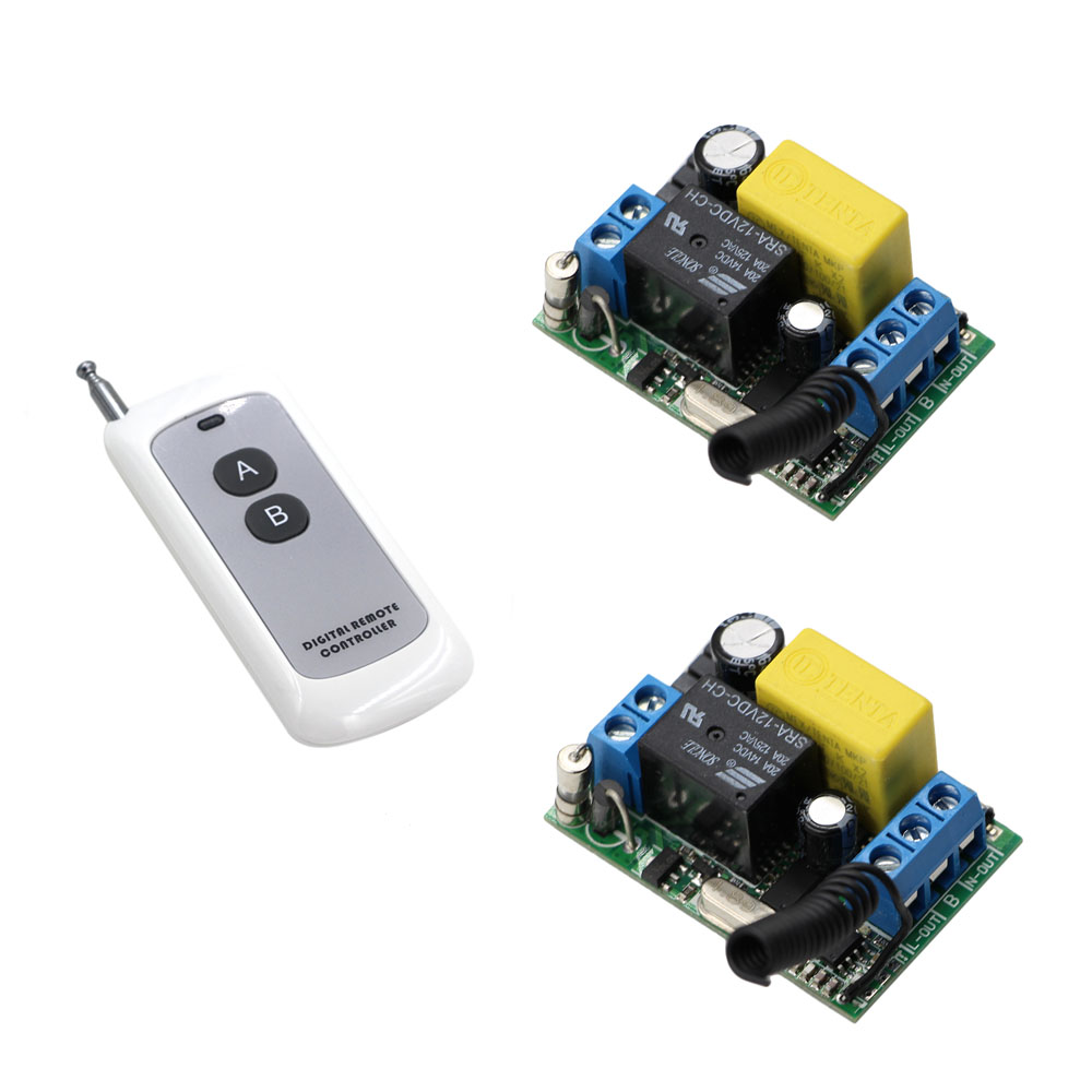 AC 220V 1CH Wireless Relay Remote Control Light Switch Radio Switches Micro Switch 2 Receiver With A B Button Transmitter  AC 220V 1CH Wireless Relay Remote Control Light Switch Radio Switches Micro Switch 2 Receiver With A B Button Transmitter