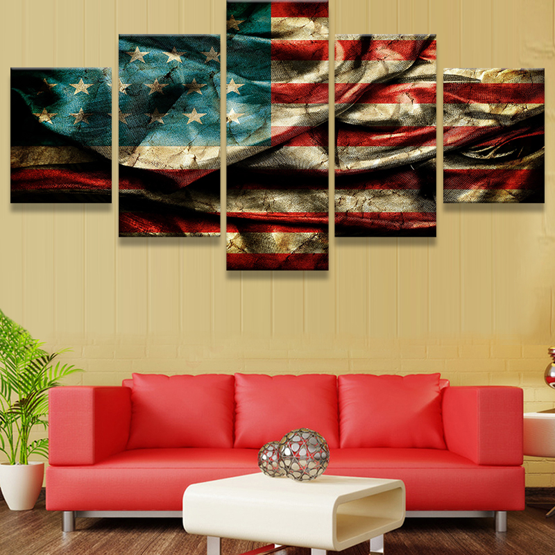 Magnificent American Flag Wall Decor Crest - All About Wallart ...