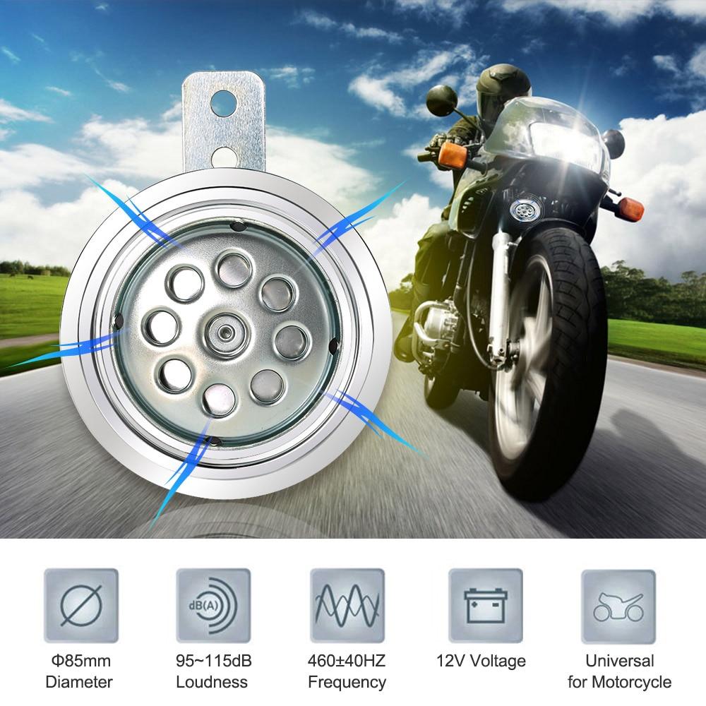 Motorcycle Electric Horn Speaker 500HZ 115DB 85mm Super Loud Universal 12V 110db Outdoor клаксон kwok 110db ahh 12v