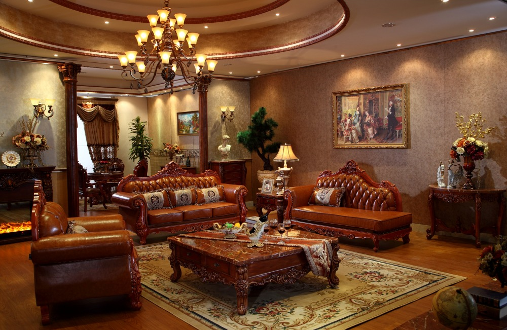 Roble Rojo de madera maciza sofá de cuero con silla reclinable silla ...