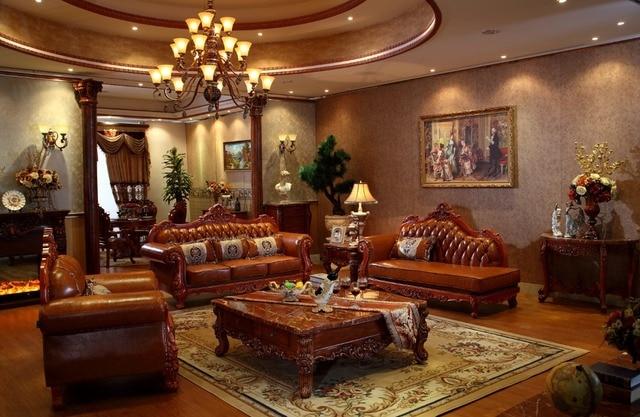 Woonkamer Set Hout : Rood eiken massief hout lederen sofa set met ligstoel lounge stoel