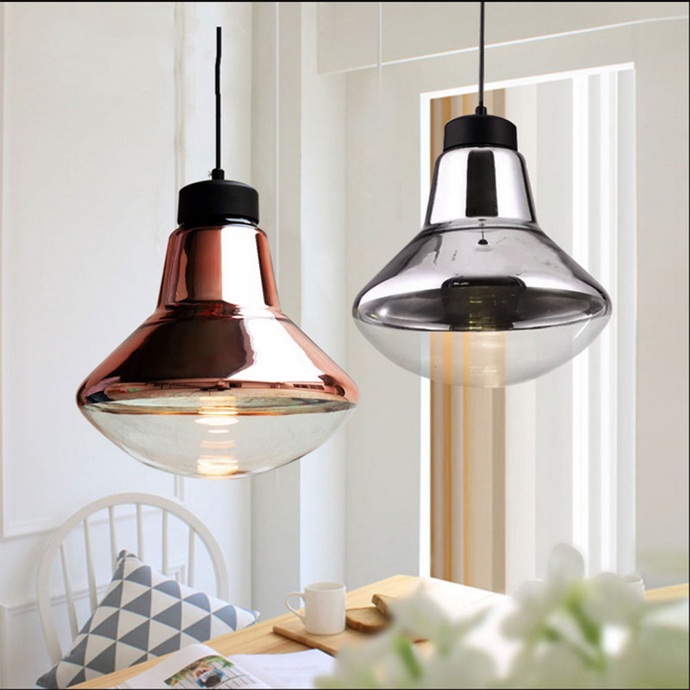 цены  Nordic Modern E27 LED Bronze Chrome Glass Pendant Lamp Lights Fixtures for Cafe Bar Home Restaurant Dining Room Hall Club Decor