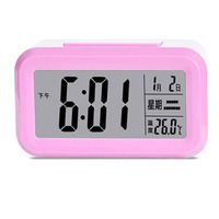Smart Alarm Clock Digital With Thermometer Electronic Table Clocks Nightlight Student Office Desk Watch Snooze Home