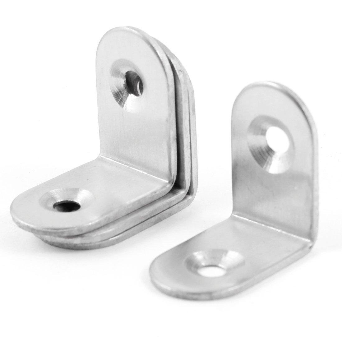 KSOL Bracket - Furniture Shelf 20x20x15mm L Shaped 25 pieces/25 x 25 mm, 4 pcs Angle Brackets Supports clip  цена и фото