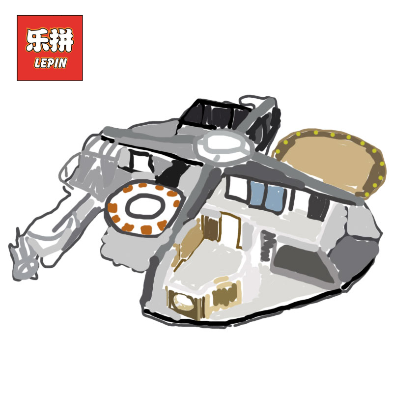 Lepin 05151 Starwars Series the Cloud City Set Star Plan Wars 75922 Model Building Blocks Bricks Children Educational Toys Gift [jkela]499pcs new star wars at dp building blocks toys gift rebels animated tv series compatible with legoingly starwars