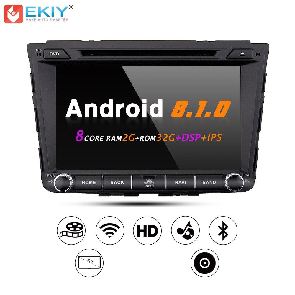 EKIY IPS DSP Voiture DVD GPS Navigation Radio Stéréo Système pour Hyundai Creta ix25 8 ''2 Din Android 8.1 multimédia Lecteur Tête Unité