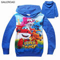 New Super Wings Autumn Children Long Sleeve Shirts For Cotton 2016 Fashion Boys Girls Sweatshirts Clothing 2 To 7Years SAILEROAD