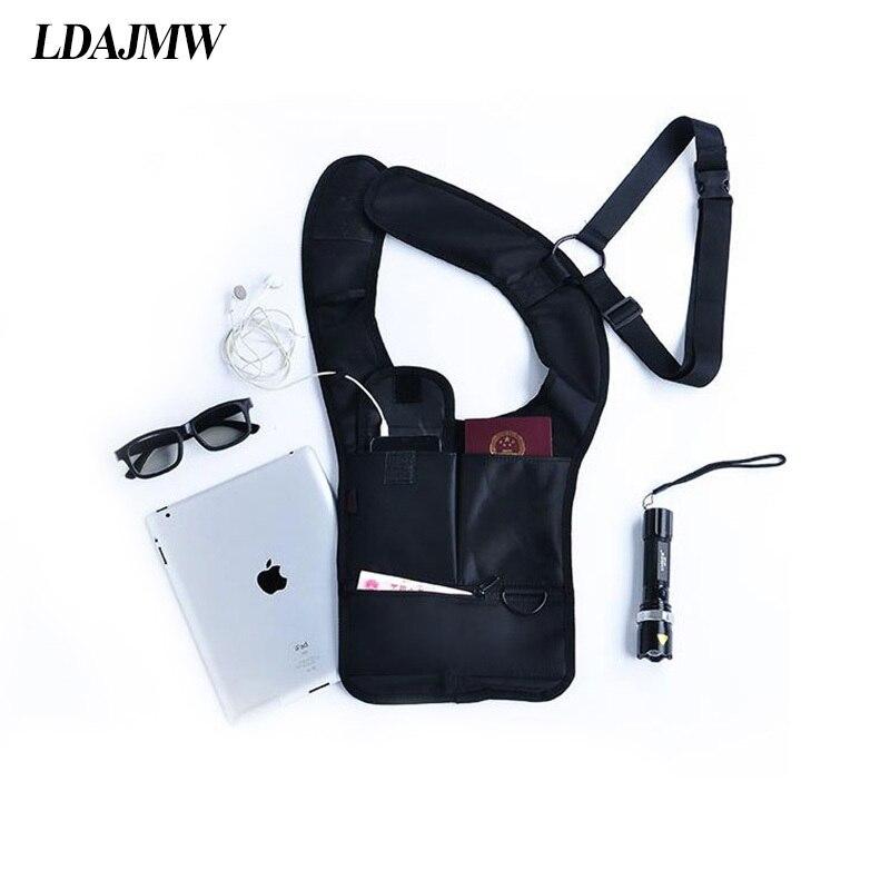 LDAJMW Anti Theft Storage bag Hidden Underarm tactical Shoulder Bag Inspector Holster tablet Card Case Wallet men Agent package
