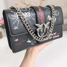 7af7c3ee599e43 Più nuovo di Modo di rondine sacchetto del messaggero borse di marca famosa  della perla delle donne della borsa del cuoio genuin.