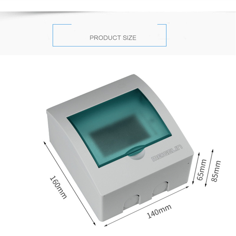 3 - 6 Ways Home Plastic Junction Box Indor Wall Distribution Box For Circuit Breaker