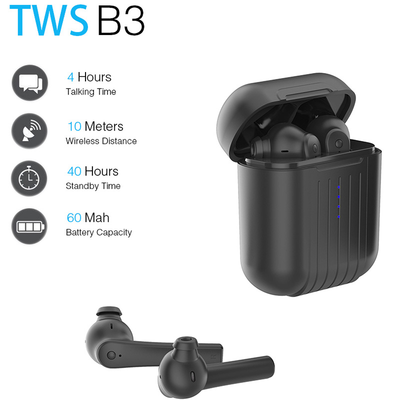 KISSCASE TWS Mini Wireless Bluetooth Earphone Headphones For Phone Stereo Earbuds Headset with Mic Gaming Sport fone de ouvido