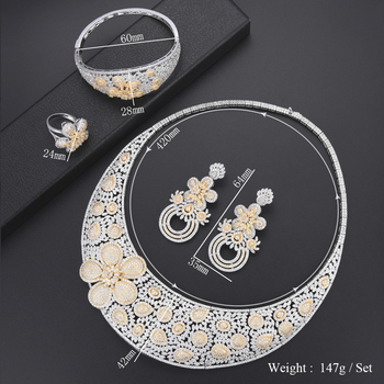 Luxury Flower turkish jewelry set 1