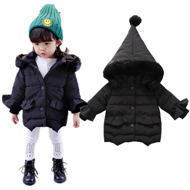 Baby infant Winter Jacket Child Girls Down Coat Parka Hooded Cotton Kids Warm Snow Wear Jacket Outerwear Clothes Thick Tops Y112 children winter coats jacket baby boys warm outerwear thickening outdoors kids snow proof coat parkas cotton padded clothes