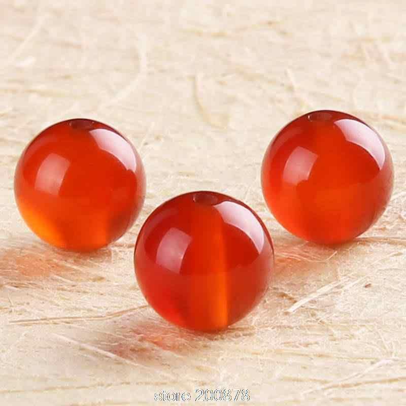 TSB0021 cuentas sueltas redondas de cornalina roja Natural 4/6/8/10/12/14/16 /18/20mm 10 cuentas lote cuentas de piedra Natural cornalina