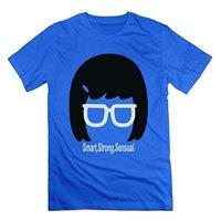 MAT Q VO Men S Bobs Burgers Tina Smart Strong Sensual T Shirts Tee