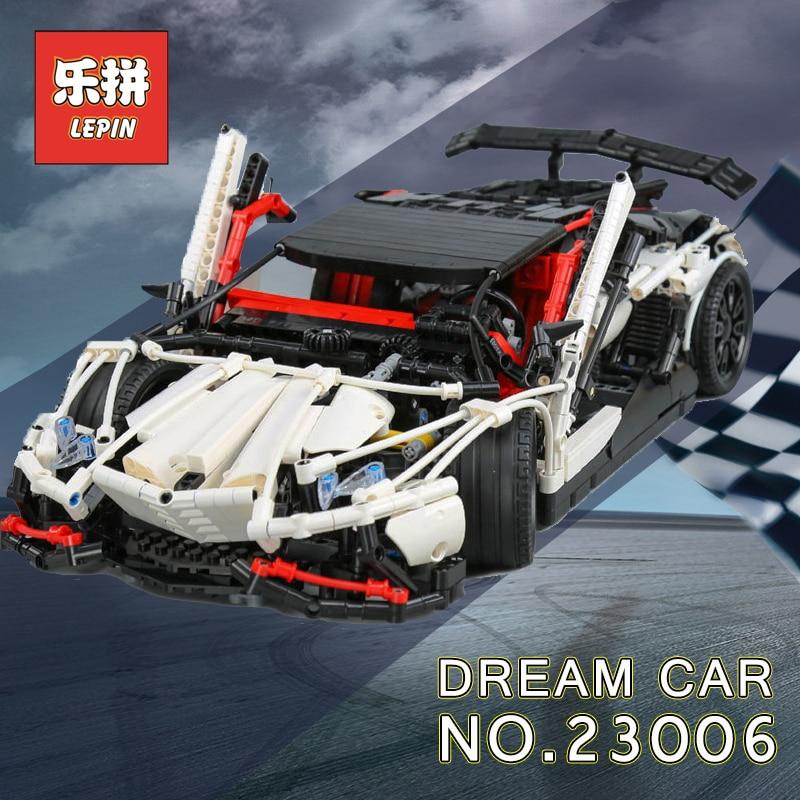 Lepin Technique 20001 voiture de course Ensemble 20086 23006 23002 Modèle blocs de construction Briques Compatible Legoing Technique 42056 d'anniversaire Jouets - 5